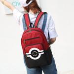 5 clolors Anime Pokemon Backpack Pocket Monsters Canvas Backpack For Women Men Pokemon Poke Ball Shoulder Schoolbags Mochila