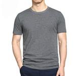 Aidiemeng T shirts Men Summer Fashion Men T shirt Cotton Solid Color Short Sleeved Tee Slim Male Shirts Casual tshirt ali01