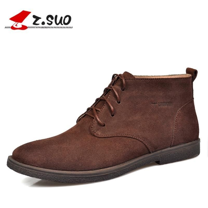 Autumn Winter Chelsea Men's Boots Classic Fashion Genuine Leather Ankle Boots Men Big Size:37-47 Cow Suede Winter Shoes Men