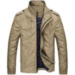 Autumn Men Jacket Windbreaker Male Overcoat Casual Solid Jacket Slim Fit Stand Collar Men Windproof Jacket Coat Plus Szie
