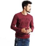 Autumn Men Letter Printing Round Neck Pullover Full Sleeve Leisure Men Sweatshirt