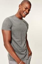Anthracite Men's T Shirt Presser   Cotton Neck Short Sleeve TMNSS19BO0001