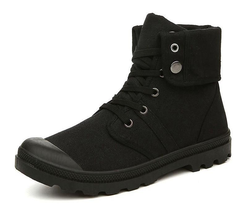 Anti Skid Canvas Combat Ankle Boots