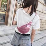 AIREEBAY Women Sequin Fanny Pack Fashion Female Waist Bag New Chest Pouch Shoulder Bag Glitter Bum Belts Bags Waist Packs