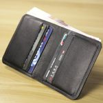 ALAVCHNV ultra - thin mini wallet male short paragraph leather vertical money wallet soft HYMN1009