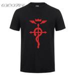 Alchemist Cool Printed T Shirt Summer Style Men Cosplay Costume Short Sleeve T-shirt For Men