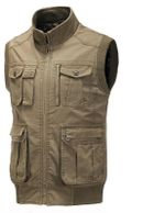 Autumn Pockets Vests Men Casual Outerwear Vests Classic Windproof Warm Waistcoat Photo Jackets