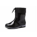Aleafalling Kesmall Cotton cover rain boots waterproof mid-calf shoes men rain boy's water rubber mid-calf boots flat botas m015