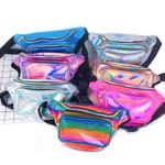 8 Colors New Holographic Waist Bag For Women Laser Fanny Pack Belt Bag Bum Bag Unisex Banana Bags