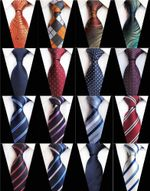 8cm Mens Ties Man Fashion Polka Dot Plaid Striped Floral Neckties Corbatas Gravata Jacquard Navy Wine Blue Business Tie for Men
