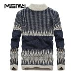 Autumn Winter Knitted Men Pullover Sweater Casual Slim Male Sweater