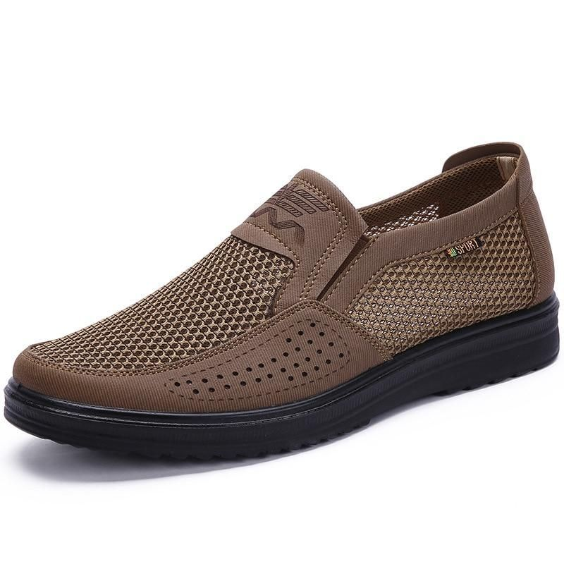 38-48 Men'S Casual Shoes, Men Summer Style Mesh Flats For Men Loafer Creepers Casual High-End Shoes Very Comfortable Dad Shoes
