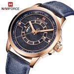 90%OFF New NAVIFORCE Men Watch 3ATM Waterproof Male Top Brand Luxury Leather Wristwatch Man Date Week Quartz Fashion Blue Clock