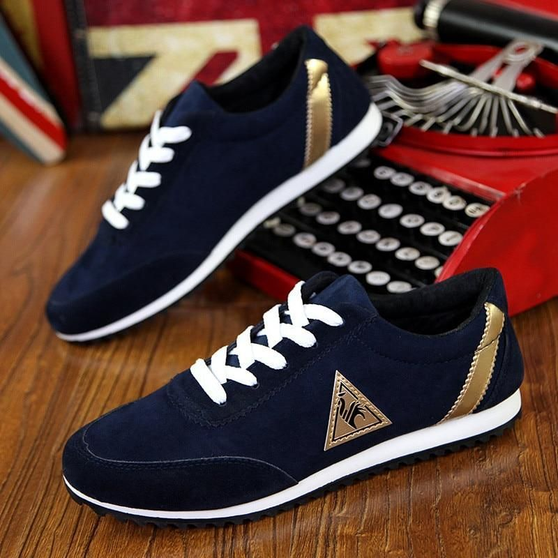 39-45 New Mens Casual Shoes For Men Sneakers Male Red Black Blue Spring Autumn Driving Brand Flats Fashion Man Shoes X711