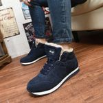Big Size 35-46 Winter Mens Boots Men Casual Fahsion Snow Men Ankle Boots  For Male Shoes With Fur Keep Warm