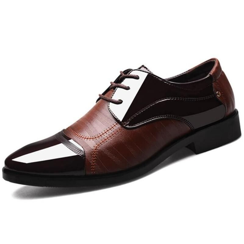Big Size 38-48 Men pu Leather Shoes Black Brown Casual Shoes Loafers Fashion Brand Mens Shoes Designer Mens Oxfords Shoes