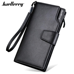 Baellerry Brand Men Wallets with Coin Pocket Purse Casual Fashion Zipper Wallet Men Business Card Holder Male Clutch Money Bag