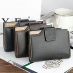 Baellerry Brand Wallet Men Leather Men Wallets Purse Short Male Clutch Leather Wallet Mens Zipper Money Bag Quality Guarantee