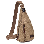 Bokinslon Men Small Bags Canvas Multifunction Man Crossbody Bag Solid Color Casual Male Shoulder Bags