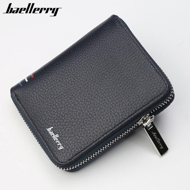 Baellerry Famous Brand Short Handy Men Wallet Purse Male Clutch Bag For Coin Money Leather Wallet Mini card holder Men wallets