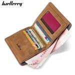 Baellerry High Quality Soft Leather wallet men vintage style men wallets leather purse male credit card holder money bag