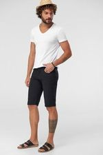 Black Men Shorts   5 Pocket Smart   Casual