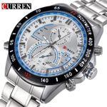 Brand Curren Dashboard Dail Men Stainless steel Quartz Wrist Watch fashion Casual Military Wristwatch Brand quality gift sale