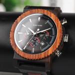 BOBO BIRD Big Men Watch Top Brand Luxury Wood Wristwatch Date Display relogio masculino as Gift Accept Custom Logo V-R15
