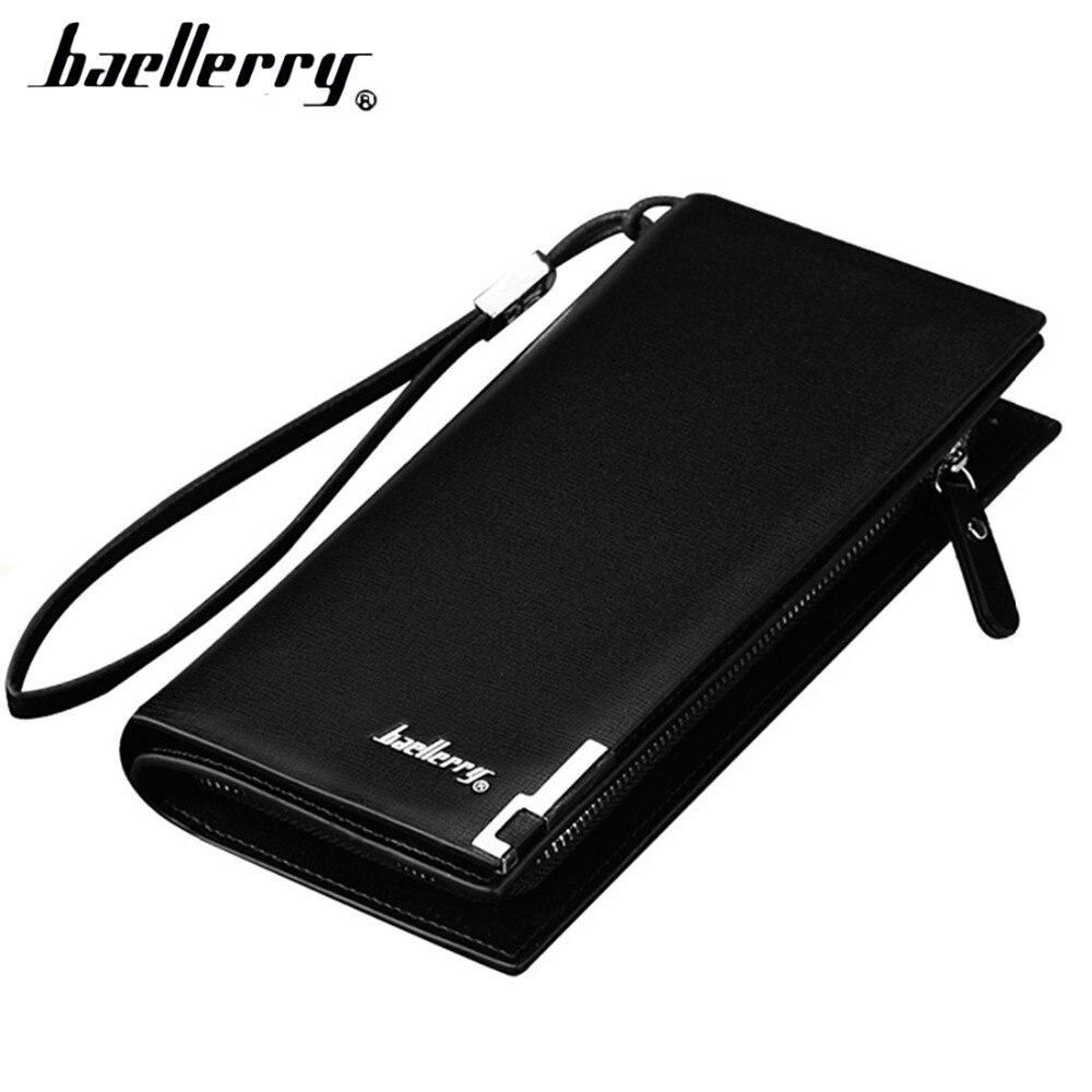 Baellerry Men Wallets Business Long Zipper Large Capacity Quality Male Purse With Card Holder Multi-function Wallet For Men