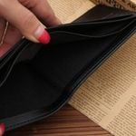 Baellerry New Fashion Wallet Leather Pu Double Pidengbao Men Short Credit Card Holder Solid Slim Wallet Tray High Letter Wallet