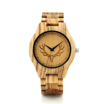BOBO BIRD L-K29 Deer Head Dial Fashion Zebra Wooden Men-sized Hour Quartz Watches for Men with Gift Box