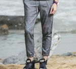 Breathable Cotton Linen Thin Jogger Pants