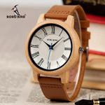 BOBO BIRD Leather Wood Watches Women Quartz Analog Men Watch Casual Cool Watch relogio masculino Gift for Lovers V-Q15