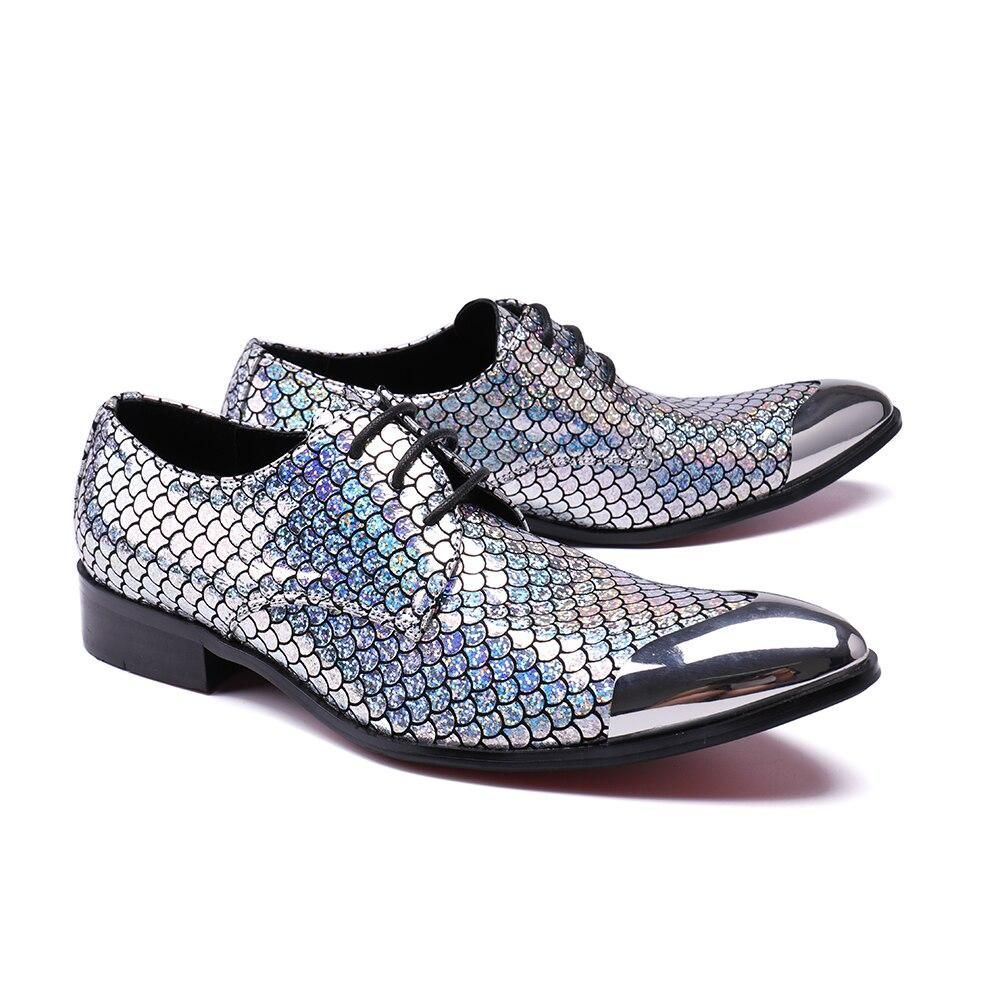 .1# mans style Genuine Leather Loafers leather shoes Men's Flats Men Metal Tip Wedding shoes