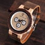 BOBO BIRD Luxury Wooden Watch Men Chronograph Military Quartz Wristwatches relogio masculino Men's Great Gift V-R08