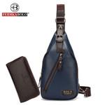 Bag Men Chest Pack Single Shoulder Strap Back Pack Leather Sling Bag Man Cross body Bags Male Chest Bag