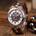 BOBO BIRD Mechanical Watch Men Wood Metal Automatic Wristwatch Waterproof Business Military Timepiece Armbanduhr J-Q29