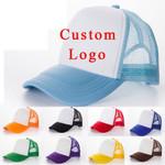 1 PCS Free Custom Logo Baseball Cap Adult Child Personality DIY Design Trucker Hat 100% Polyester Hats Blank Mesh Cap Men Women