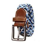 Belts Cummerbunds Woman Wide Elastic Stretch Canvas Belt Pin Buckle Braided Young Students Belt leather