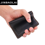Black Purse For Men Genuine Leather Men's Wallets Thin Male Wallet Card Holder Cowskin Soft Mini Purses Luxury Design Wallet Men