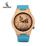 BOBO BIRD Men Wood Watches Women Top luxury Brand Design bamboo Wooden Wristwatches forLadies With Leather Bands in gift box