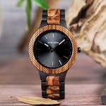BOBO BIRD Men's Watches Retro Zebra Wooden Quartz Wristwach Handmade Gifts Items in Wood box relogio masculino C-D30-1