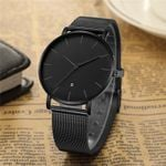 Black Quartz Watch Men Watches Dress Famous Brand Classic Stainless Steel Wrist Watch For Men Clock Male Wristwatch Hour Reloges