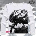 Black Rock Shooter T Shirt Cartoon T-Shirt Anime Long Sleeve t shirts men Tops Tees