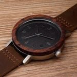 BOBO BIRD New Designer Watch Men Leather Strap Wooden Watches Luxury Wood Wristwatches relogio masculino C-K06