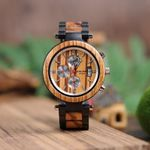 BOBO BIRD P17 Wooden Mens Watches Bearing Design Date Display Wristwatch for Male