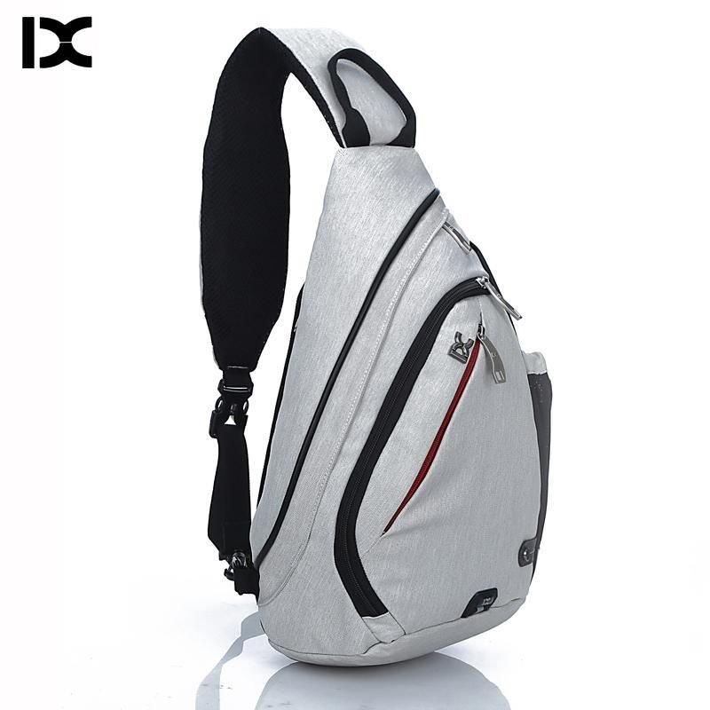Brand Large Capacity Male Chest Bag High Quality Nylon Men School Bags Modern Shoulder Bag Unisex Crossbody Bags Messenger Pack