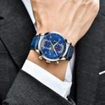 BENYAR Fashion Chronograph Sport Watches Men leather Strap Brand Quartz Watch Clock Relogio Masculino Reloj Hombre dropshipping