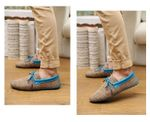 breathable lace-up casual flat shoes