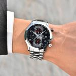 BENYAR Fashion Chronograph Sport Watches Men Stainless Steel Strap Brand Quartz Watch Clock Relogio Masculino Reloj Hombre black